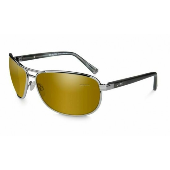 slnečné okulaire KLEIN Polarized Gold Mirror Amber/Gunmetal