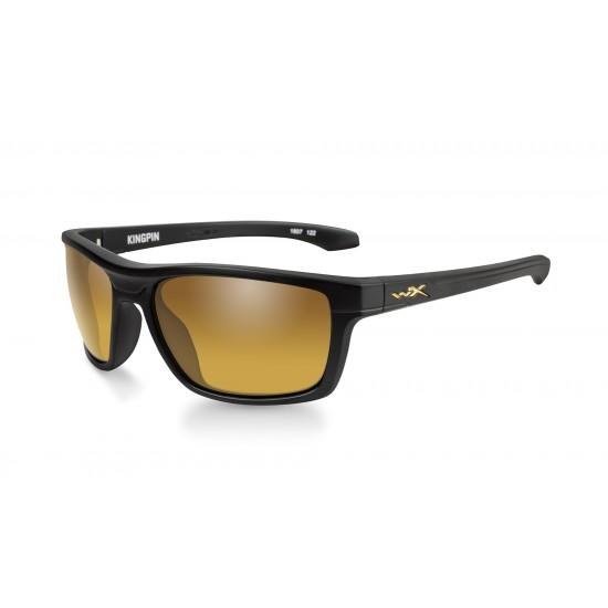 slnečné okuliare KINGPIN POLARIZED Gold Mirror Amber/Matte Black