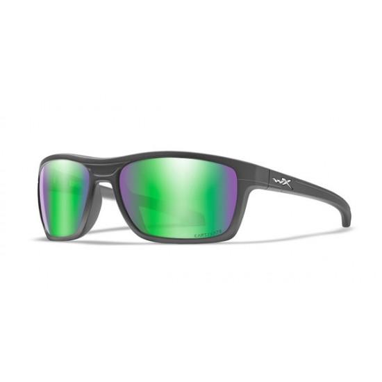 slnečné okuliare KINGPIN Captivate Polarized - Green Mirror - Amber/Matte Graphite