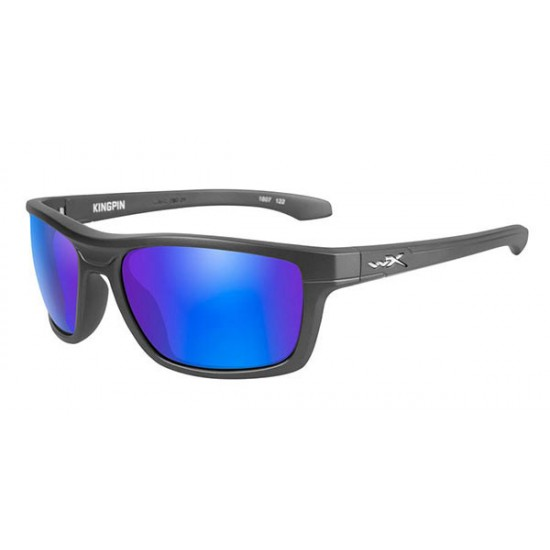 slnečné okuliare KINGPIN-POLARIZED Blue Mirror Green/Matte Graphite