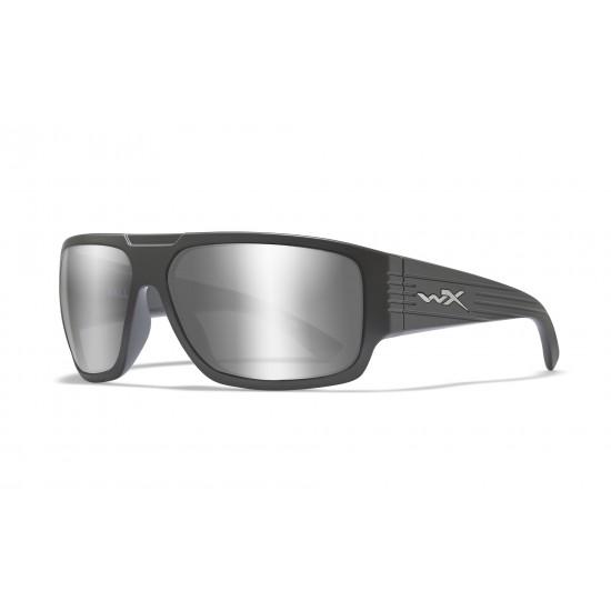 slnečné okuliare VALLUS Silver Flash Smoke Grey/Matte Graphite