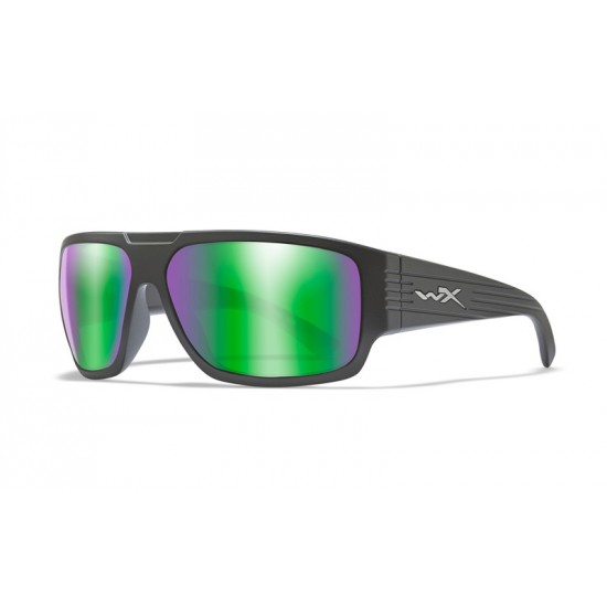 slnečné okuliare VALLUS POLARIZED Emerald Mirror Amber/Matte Black