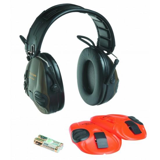 3M™ Peltor™ SportTac Hunting, skladacie, výmenné kryty oranžová, zelená