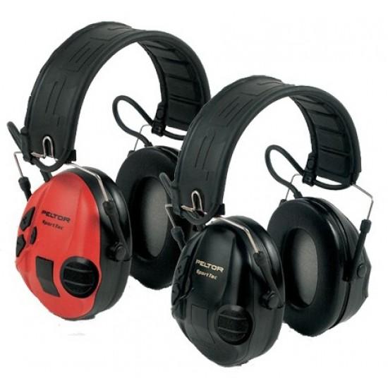 3M™ Peltor™ SportTac Shooting, skladacie, výmenné kryty červená, čierna, 1/EACH