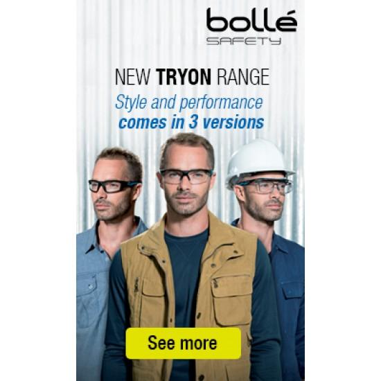 Bollé TRYON OTG pracovné okuliare PC, AS AF tmavé