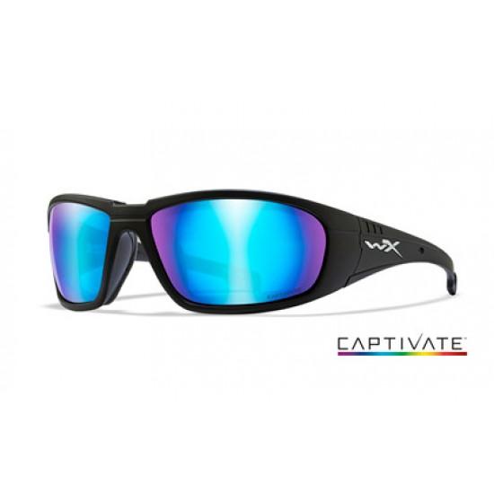 strelecké okuliare WILEY X BOSS Captivate Blue Mirror/ Matte Black Frame