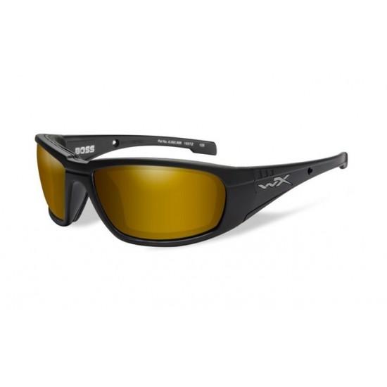 strelecké okuliare WILEY X BOSS Polarized - Gold Mirror