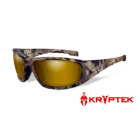 strelecké okuliare WILEY X BOSS Polarized Kryptek Highlander - Gold Mirror