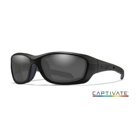 strelecké okuliare WILEY X GRAVITY CAPTIVATE Captivate Smoke Grey /Matte Black Frame