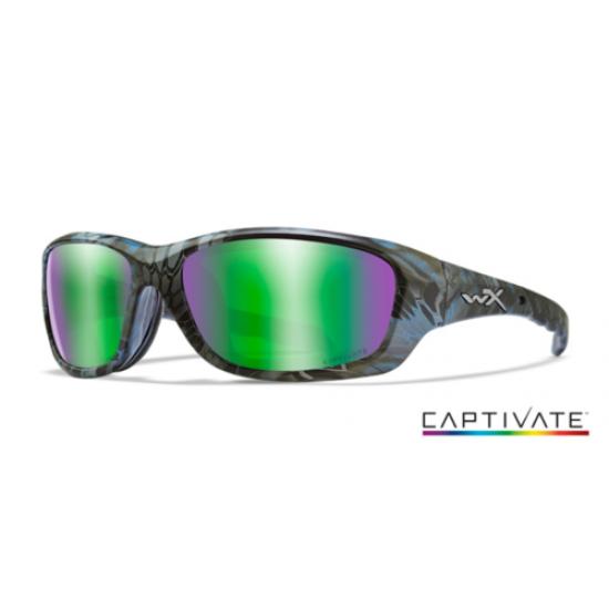 strelecké okuliare WILEY X GRAVITY Polarized - Captivate Green Mirror/ Kryptek Neptune Frame