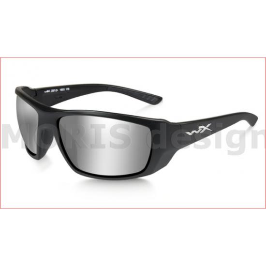 slnečné okuliare WILEY X KOBE KOBE Silver Flash Smoke Grey/Matte Black