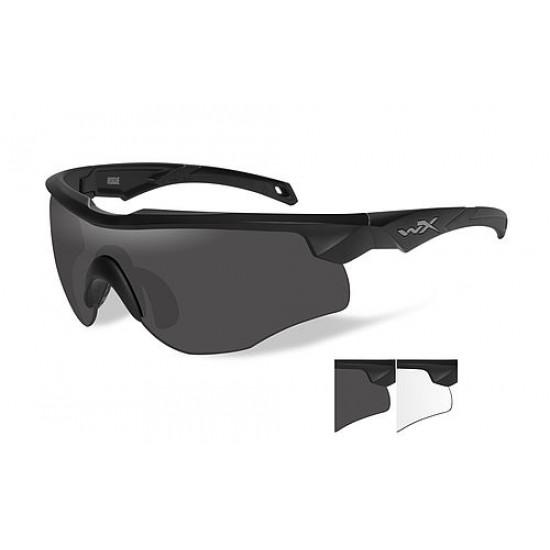 strelecké/ taktické/ dioptrické okuliare s vymeniteľnými zorníkmi WILEY X ROGUE - Smoke Grey + Clear