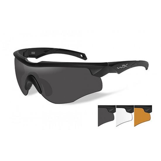 strelecké/ taktické/ dioptrické okuliare s vymeniteľnými zorníkmi WILEY X ROGUE - Smoke Grey + Clear + Light Rust
