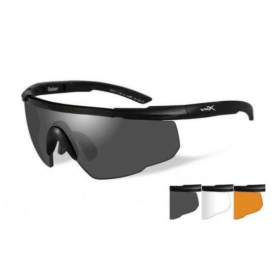 športové/ taktické/ dioptické okuliare s vymeniteľnými zorníkmi WILEY X SABER ADVANCED - Smoke Grey + Clear + Light Rust