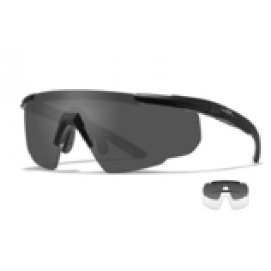 športové/ taktické/ dioptrické okuliare s vymeniteľnými zorníkmi WILEY X SABER ADVANCED -Smoke Grey + Clear/Matte Black