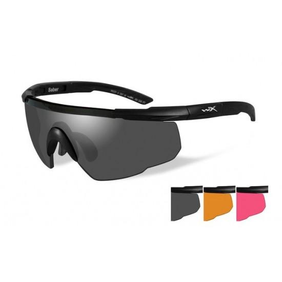 športové/ taktické/ dioptrické okuliare s vymeniteľnými zorníkmi WILEY X SABER ADVANCED -Smoke Grey + Light Rust + Vermillion