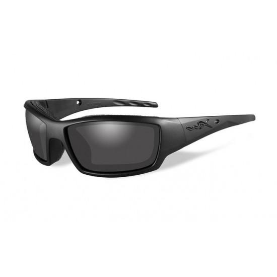 strelecké okuliare WILEY X TIDE Black Opps - Smoke Grey
