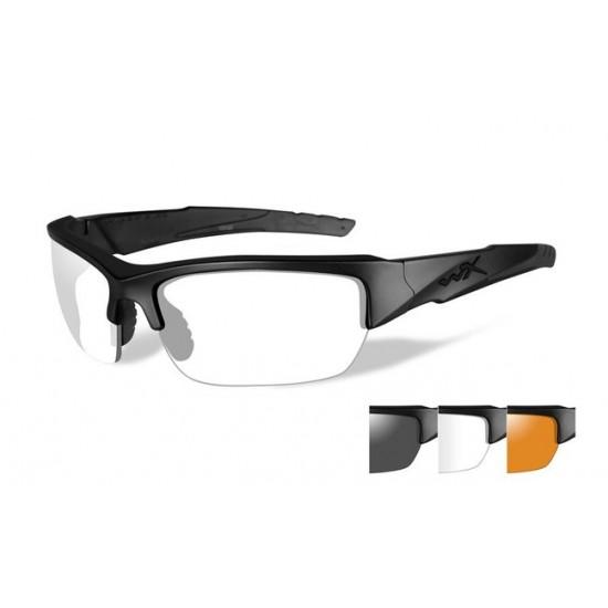 strelecké/ taktické okuliare s vymeniteľnými zorníkmi WILEY X VALOR Smoke Grey + Clear + Light Rust