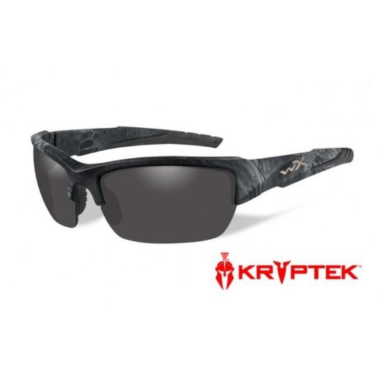 slnečné/ taktické okuliare s vymeniteľnými zorníkmi WILEY X VALOR Polarized - Smoke Grey Kryptek