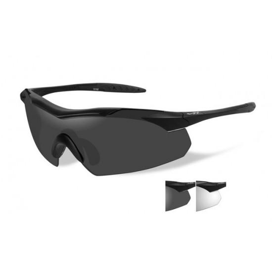 dioptrické/ taktické okuliare s vymeniteľnými zorníkmi WILEY X VAPOR - Smoke Grey + Clear