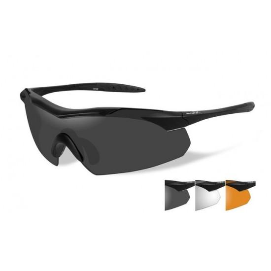 dioptrické/ taktické okuliare s vymeniteľnými zorníkmi WILEY X VAPOR - Smoke Grey + Clear + Light Rush