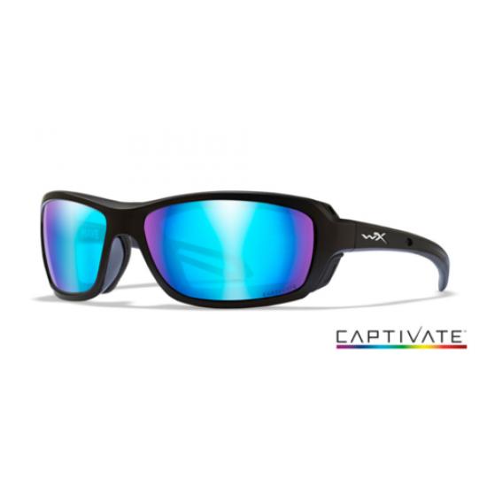 strelecké okuliare WILEY X WAVE CAPTIVATE PolarizedCaptivate Blue Mirror/Matte Black Frame