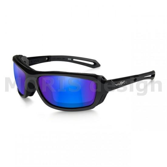 strelecké okuliare WILEY X WAVE Polarized - Blue Mirror - Green