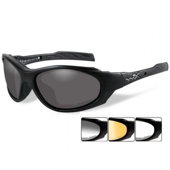 taktické/ strelecké okuliare s vymeniteľnými zorníkmi WILEY X XL-1 ADVANCED - Grey + Clear + Light Rust