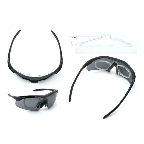 dioptické/ taktické okuliare s vymeniteľnými zorníkmi WILEY X VAPOR TAN- Smoke Grey + Clear + Light Rust